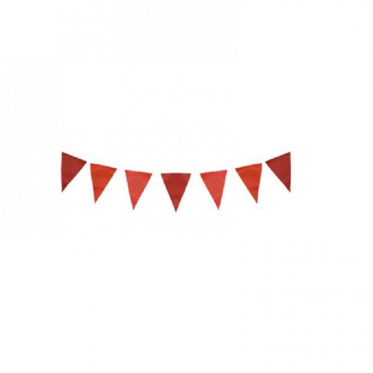 Guirlande rouge 15 fanions 3M