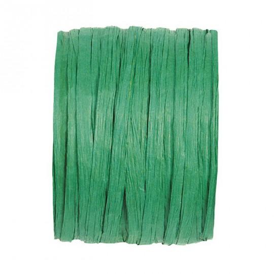 Rafia vert sapin en rouleau de 20m