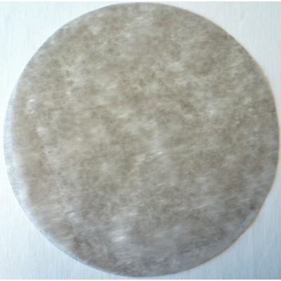 Set de table rond intissé gris 34 cm.