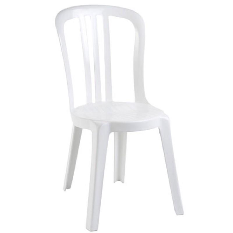chaise miami blanche confortable l g re solide et empilable. Black Bedroom Furniture Sets. Home Design Ideas