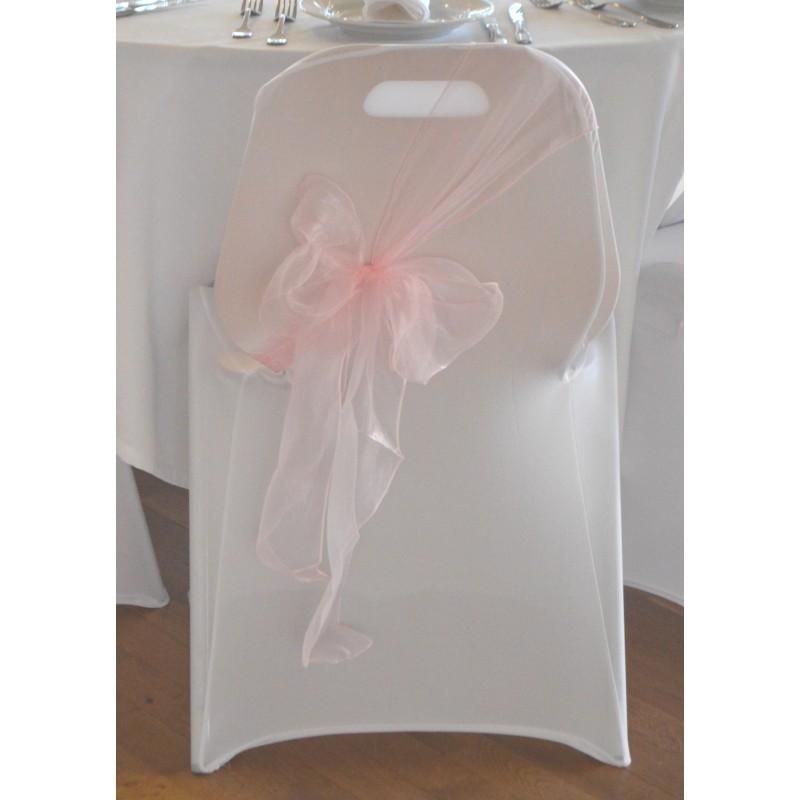 Housse de chaise blanche en lycra tr s extensible - Housse de chaise blanche ...