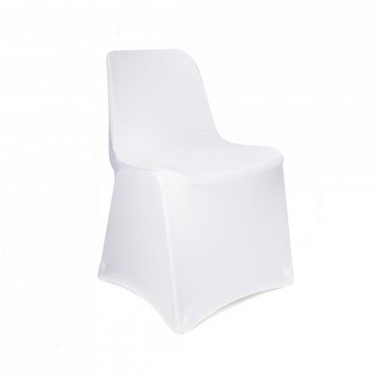 Housse de chaise blanche en lycra tr s extensible - Housse de chaise spandex ...