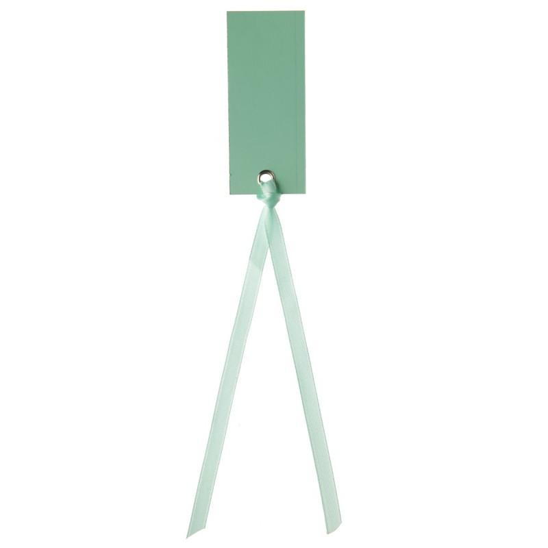 Marque place rectangle mint avec ruban - Marque place avec photo ...