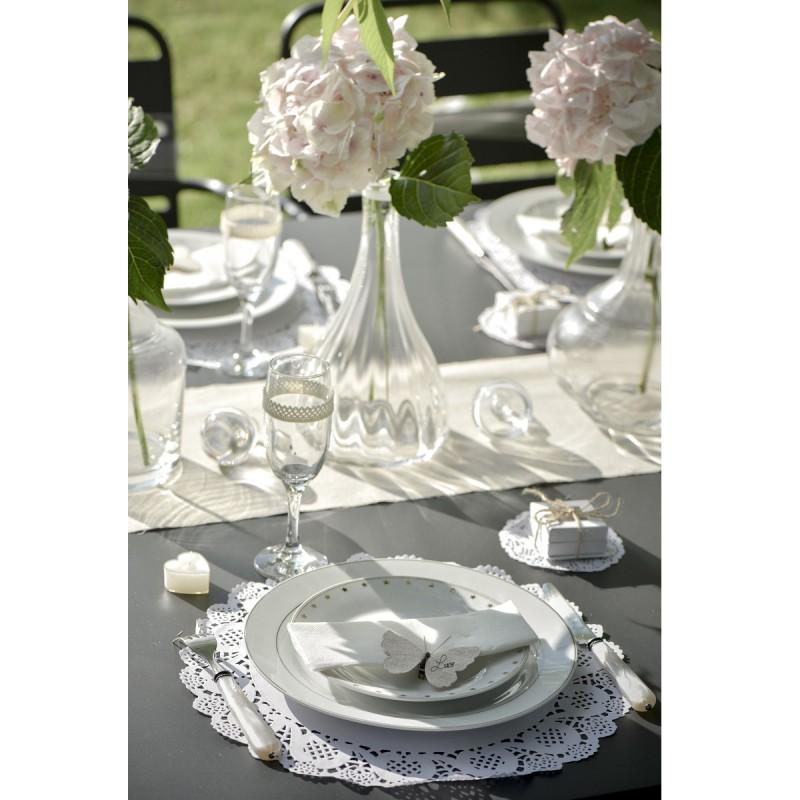 set de table napperon dentelle blanc. Black Bedroom Furniture Sets. Home Design Ideas