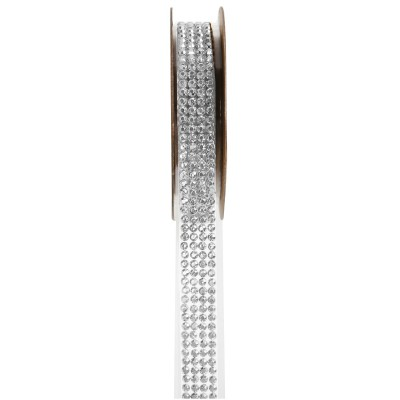 Ruban strass transparent 1 mètre x 15 mm