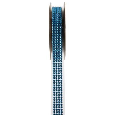 Ruban strass turquoise 1 mètre x 15 mm