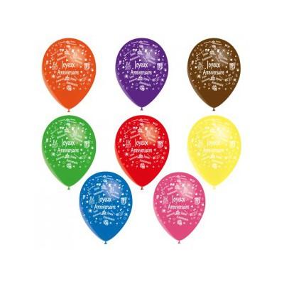 Ballons Joyeux Anniversaire 28 cm hélium