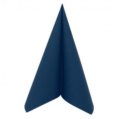 serviette bleu marine