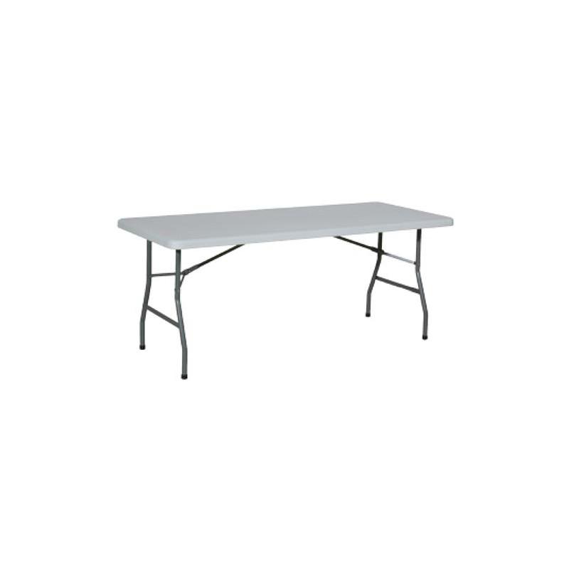 Table rectangle 6 personnes elle est en mati re plastique for Table grise 6 personnes