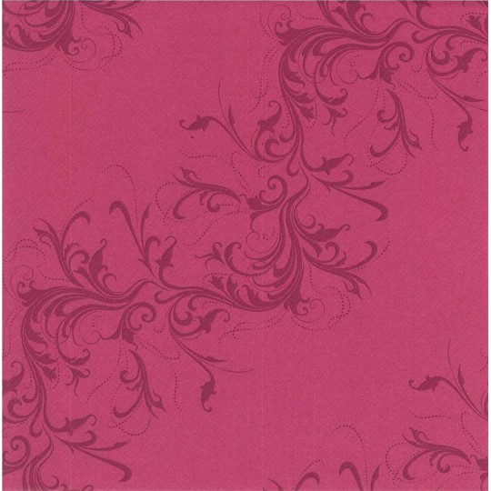 Chemin de table fantaisie framboise et prune décor Harmony