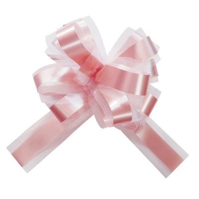Noeud à tirer en tulle rose pale