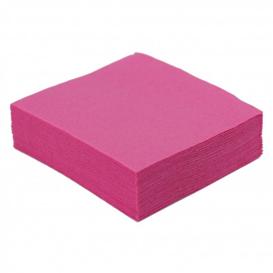 Serviette cocktail fushia jetable