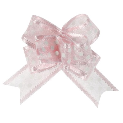 Noeud à tirer rose motif pois 16 mm