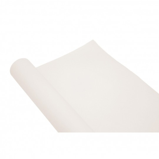Chemin de table uni blanc jetable