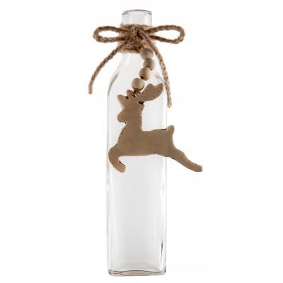 Soliflore en verre décoration renne