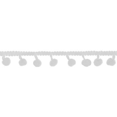 Guirlande pompon blanc