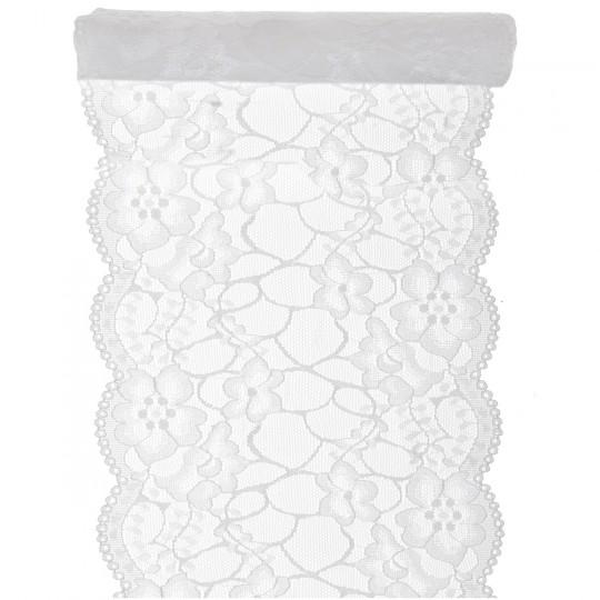 chemin de table dentelle blanc 3 m x 18 cm. Black Bedroom Furniture Sets. Home Design Ideas