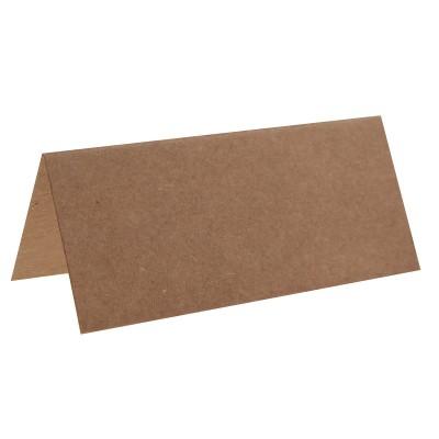 Marque place kraft rectangle, en carton.