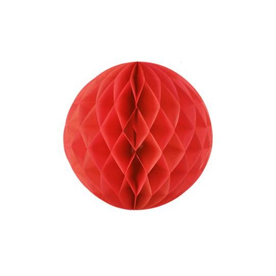 Boule japonaise alvéolée rouge