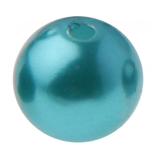 Perles rondes turquoises.