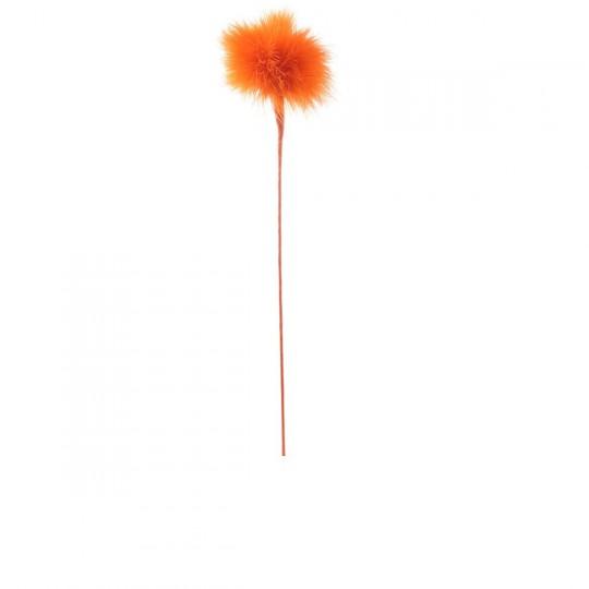 Plume duvet pomponnette orange.