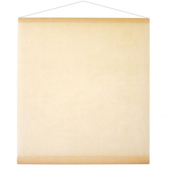 Tenture ivoire pour la salle en intissé polyester.