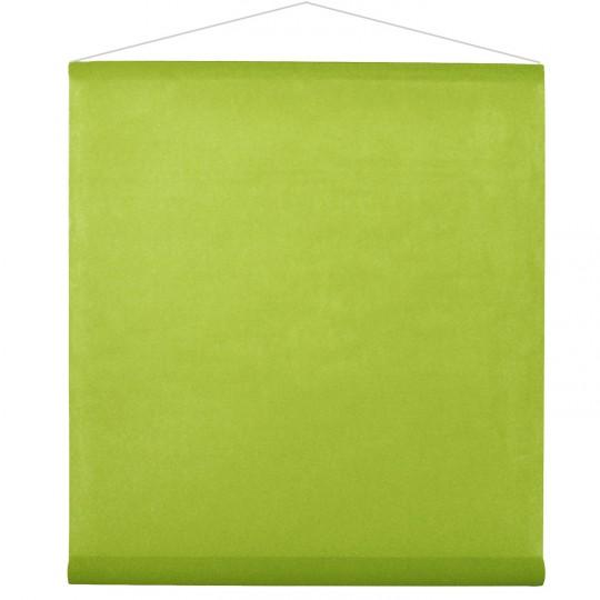 Tenture verte pour la salle en intissé polyester.