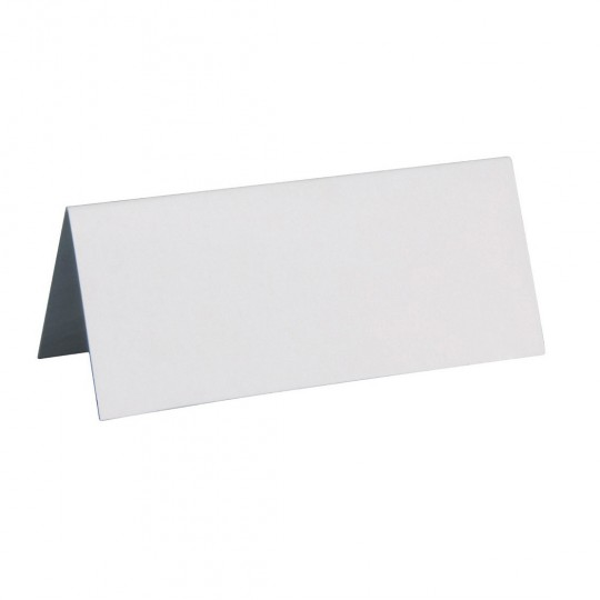 Marque place blanc rectangle, en carton.