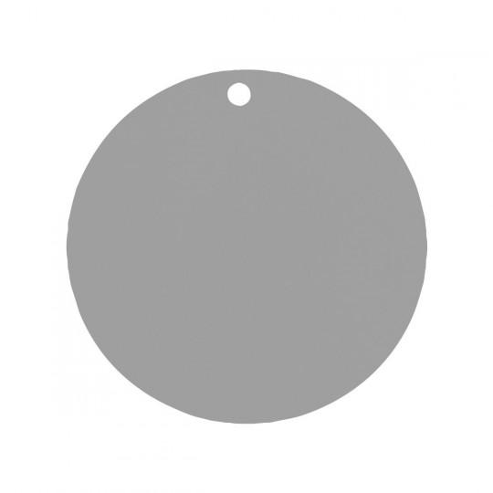 Marque place rond gris.