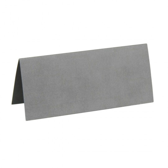 Marque place gris rectangle, en carton.
