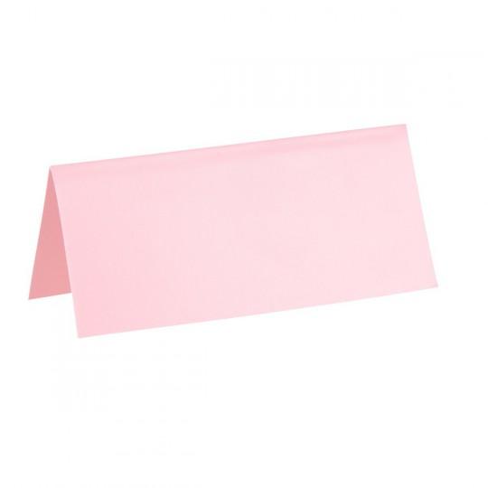 Marque place rose rectangle, en carton.