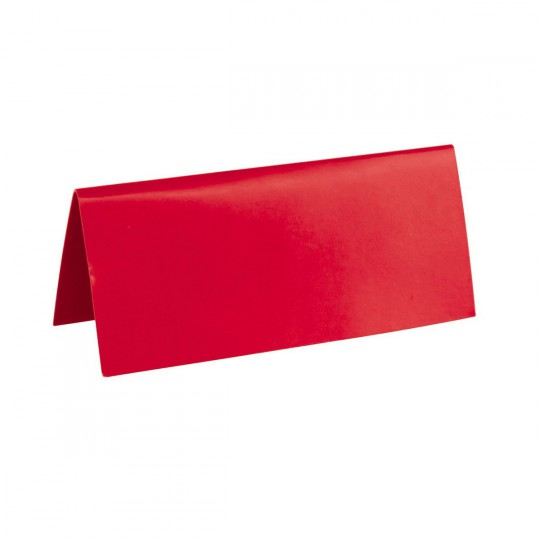 Marque place rouge rectangle, en carton.