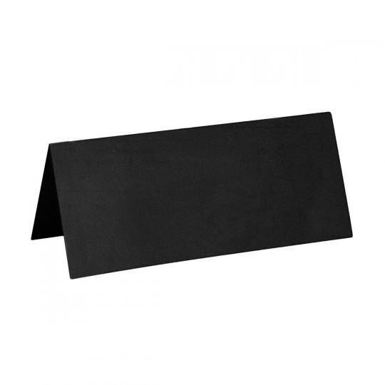 Marque place noir rectangle, en carton.