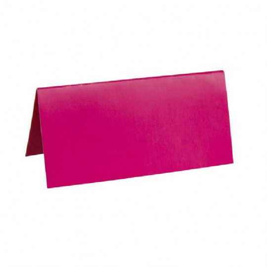 Marque place fuchsia rectangle, en carton.
