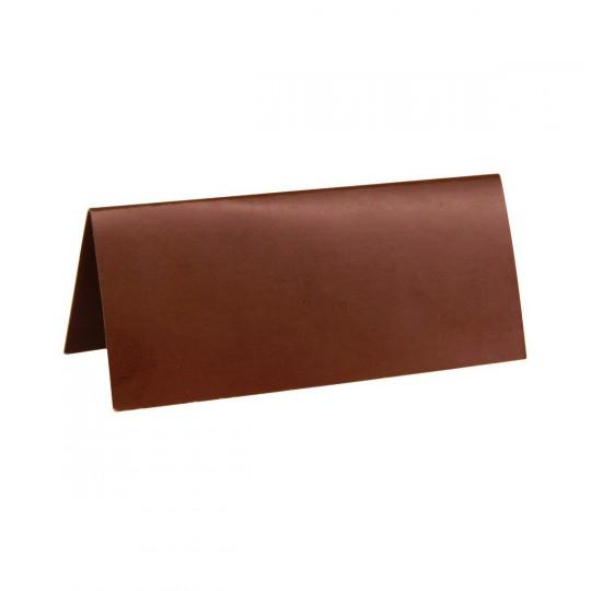 Marque place chocolat rectangle, en carton.