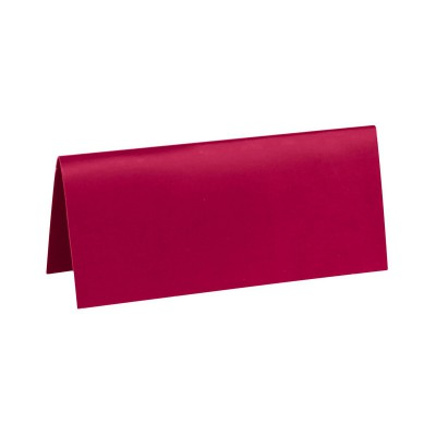 Marque place bordeaux rectangle, en carton.