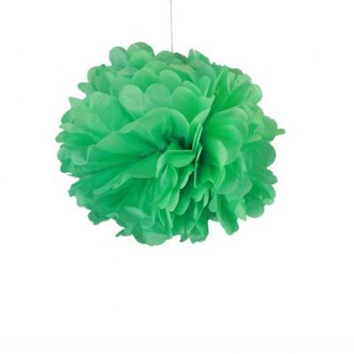 Pompons vert d'eau 30cm x 2