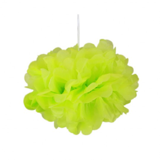 Pompons vert anis 30cm x 2