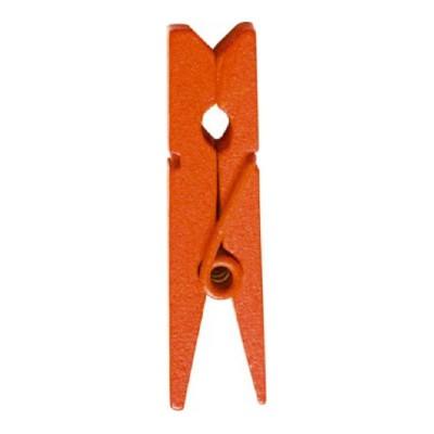 Pinces oranges en bois