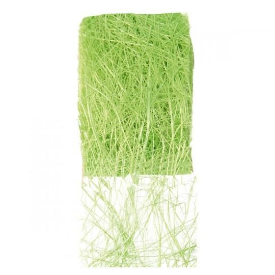 Ruban abaca vert en rouleau de 5m x 7cm.