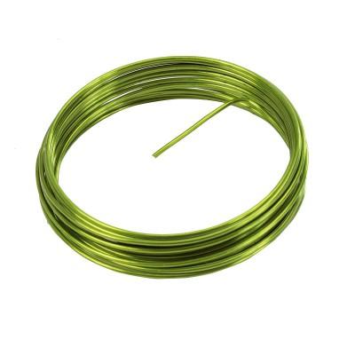 Fil aluminium vert 2mm x 5m