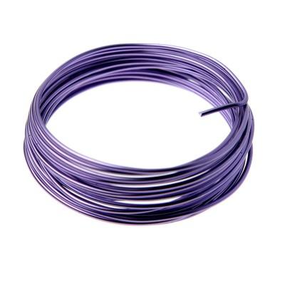 Fil aluminium violet 2mm x 5m