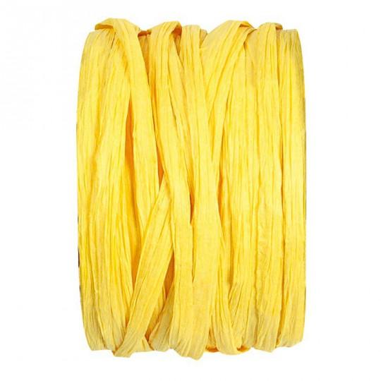 Raphia jaune en rouleau de 20m