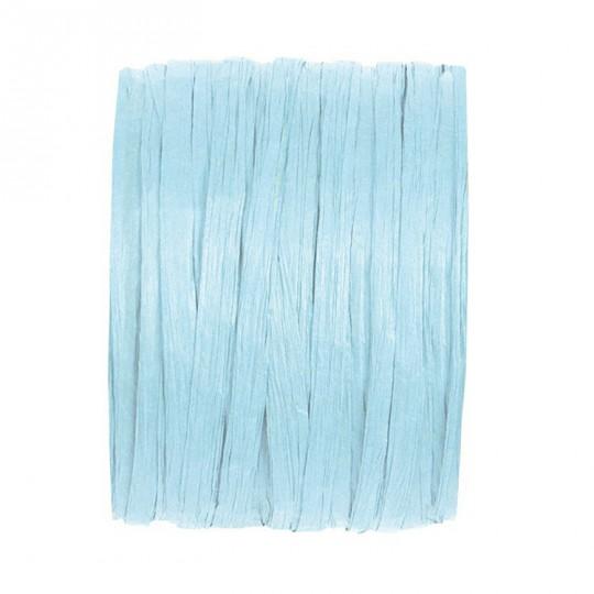 Raphia bleu ciel en rouleau de 20m