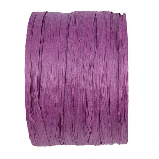 Rafia violet en rouleau de 20m
