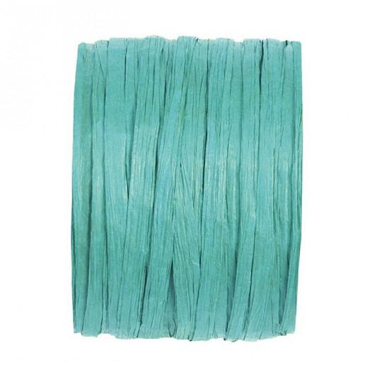 Raphia turquoise en rouleau de 20m