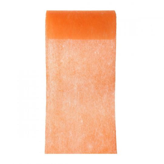 Ruban large intissé orange.