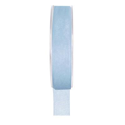 Ruban organza bleu ciel 20 mètres x 6mm