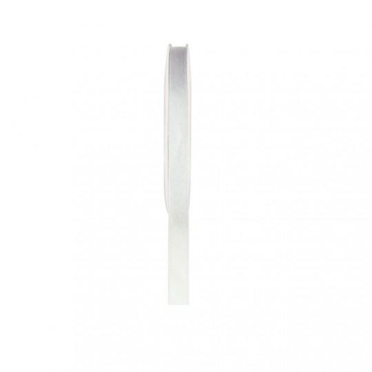 Ruban satin double face blanc 25 mètres x 6mm