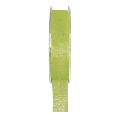 Ruban organza vert 20 mètres x 6mm